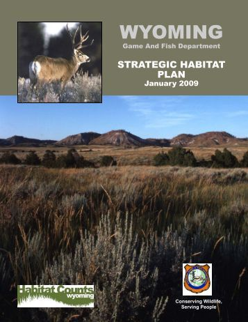 Wyoming game and fish department state wildlife action plan for Wyo game fish