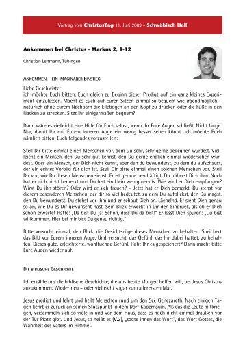 Christian Lehmann - Lebendige Gemeinde