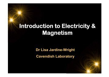 Introduction to Electricity & Magnetism