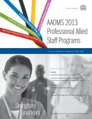 AAOMS 2013 Professional Allied Staff Programs - American ...