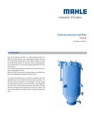 Vertical pressure leaf filter, Versis for filtration of - MAHLE Industry ...