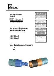 Niederdruck-Kupplung, Type LP-004, Rev-B - Carl Kurt Walther ...