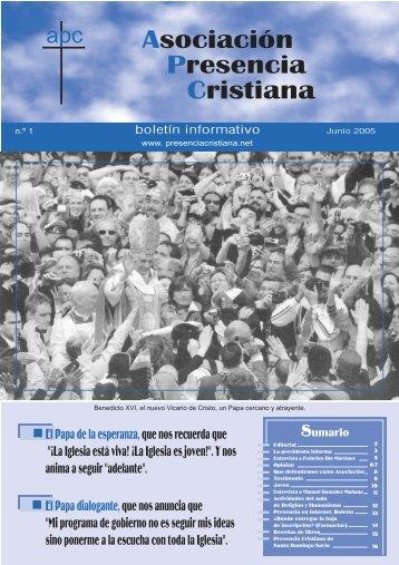 Número 1 - Asociación Presencia Cristiana en Córdoba