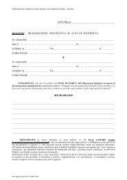 Dichiarazione sostitutiva di atto notorio con autentica di firma