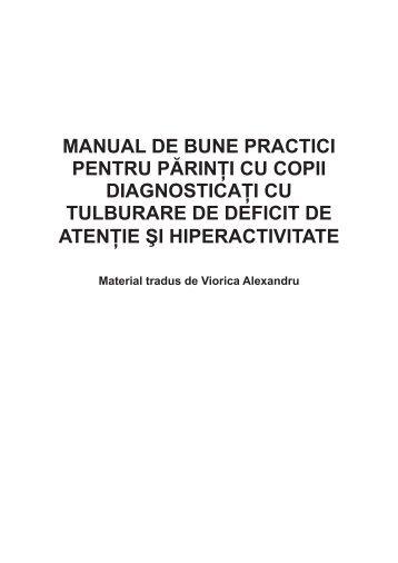 manual de bune practici pentru părinţi cu copii diagnosticaţi cu ...