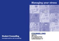 Managing your stress - Plymouth University