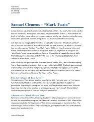 """Samuel Clemens – """"Mark Twain"""" - Mr. Behling's Web"""