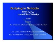 Bullying 09/10 - Sonoma County Office of Education