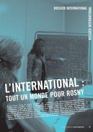 dossier international - Site officiel de la ville de Rosny-sous-Bois