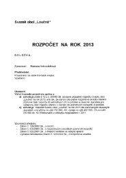 ROZPOČET NA ROK 2013 - Rokytno