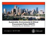 Sustainable Procurement - Haskayne School of Business