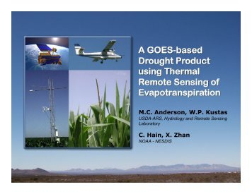 A GOES-based Drought Product using Thermal Remote ... - NOAA