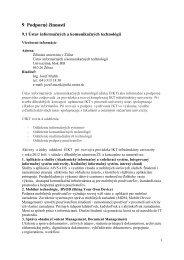 9 Podporné činnosti - Žilinská univerzita