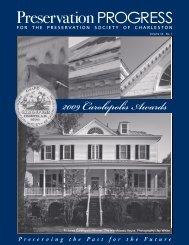 2009 Carolopolis Awards - Preservation Society of Charleston