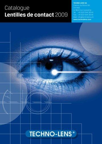 Catalogue Lentilles de contact 2009 - techno-lens sa
