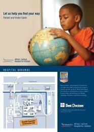 Download Campus Map & Guide (PDF) - Nemours