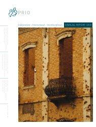 Annual Report 2010 - PRIO