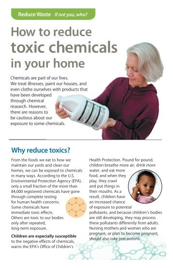 How to reduce toxic chemicals in your home - Minnesota Pollution ...