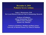 Severe Asthma in children-Rosenwasser - World Allergy Organization