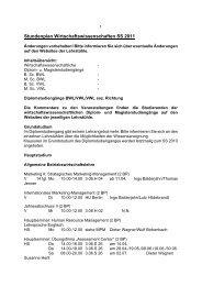 Stundenplan Wirtschaftswissenschaften SS 2011 - BWL-UP