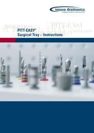 SURGICAL TRAY INSERTION - Van der Tuin Implant