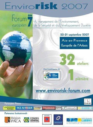 programme EK 2007 - Environnement-Industrie