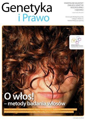 Genetyka i Prawo 3 (10) - Zima 2010 - Zakład Genetyki Molekularnej ...