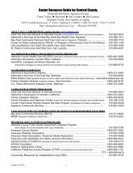 Senior Resource Guide for Central County - City of HAYWARD