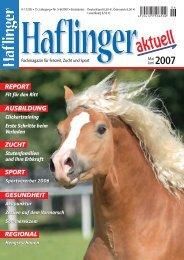 Nr. 5-6/2007 I Einzelpreis - Haflinger aktuell