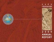 annu al repor t 2009 - the AAPG Foundation - American Association ...