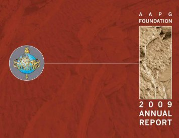 annu al repor t 2009 - the AAPG Foundation - American Association ...