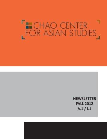 Fall 2012 Newsletter - Chao Center for Asian Studies - Rice University