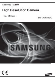 High Resolution Camera - Samsung CCTV