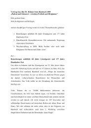 """Vortrag San.-Rat Dr. Helmut Stein Hambach 2009 """"Patient und ..."""