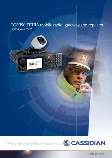 TGR990 TETRA mobile radio, gateway and ... - Entropia Network