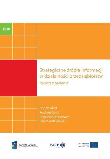 Strategiczne źródła informacji w działalności przedsiębiorstw