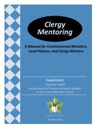 Clergy Mentoring - General Board of Pension and Health Benefits