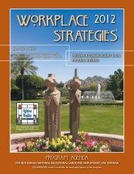 2012 National Workplace Strategies Seminar - Ogletree Deakins