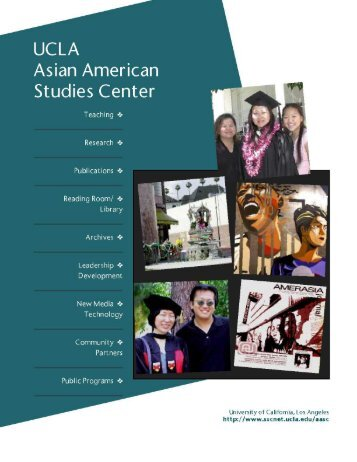 aasc brochure/less pages - UCLA Asian American Studies Center