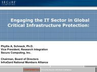 Engaging the IT Sector in Global Critical Infrastructure Protection: