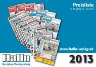 Ihre lokale Wochenzeitung - Hallo München
