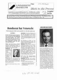 UN IVERSITÄT BAYREUTH BZ- k - d - Prof. Dr. Kay Windthorst ...