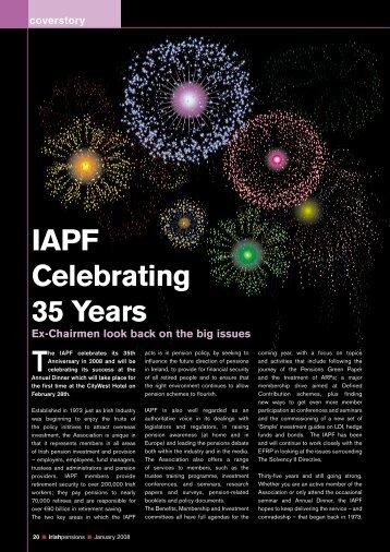 IaPf Celebrating 35 years - Irish Association of Pension Funds