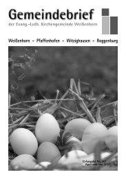 Gemeindebrief 251.pdf - Evang.-Luth. Kirchengemeinde Weißenhorn