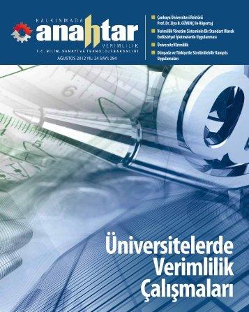 Ağustos 2012 Sayı:284 - Verimlilik Genel Müdürlüğü - Bilim, Sanayi ...