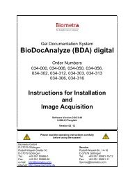 BioDocAnalyze (BDA) digital - Biometra