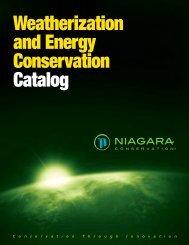 Weatherization and Energy Conservation Catalog - Niagara ...