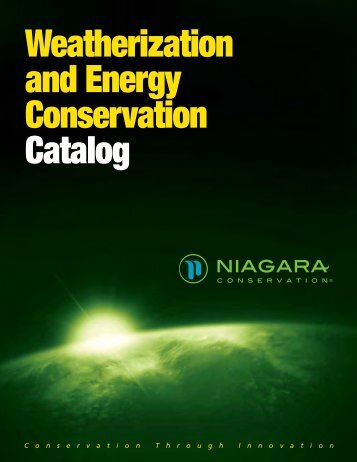 Weatherization and Energy Conservation Catalog - Niagara ...