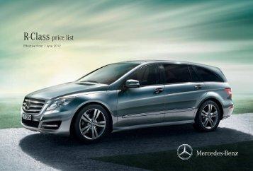 R-Class price list - Mercedes-Benz (UK)