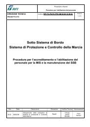 Sotto Sistema di Bordo Sistema di Protezione e Controllo ... - Trenitalia